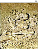 The grave also found at the site
