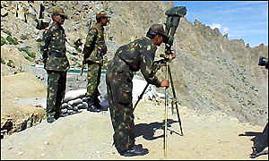 Indian soldiers on the Line of Control