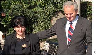 Mira Markovic and Slobodan MIlosevic pictured in 1996