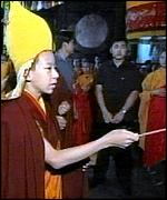 Panchen Lama at religious ceremony