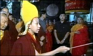 The Panchen Lama visits a Buddhist site