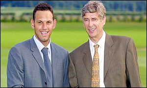 Richard Wright and Arsene Wenger