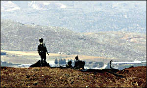 Syrian radar station on Bekaa plain, Lebanon