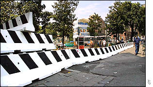Cement security barriers