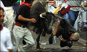 Man gored by bull