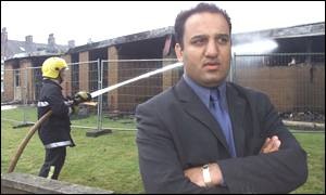 Mohammed Amran outside the Manningham Labour Club