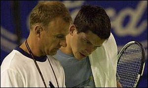 Tim Henman (right) with his former coach David Felgate