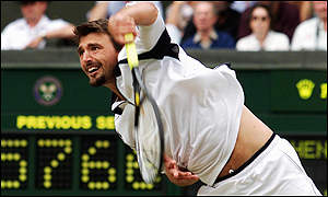 The serving machine: Goran Ivanisevic