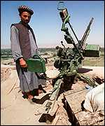 Anti-aircraft gun in Afghanistan