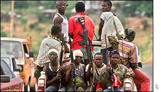 Rebels in Sierra Leone