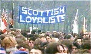 Scottish loyalists banner