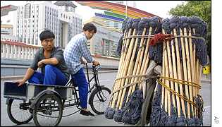 Hawkers selling mops in Beijing