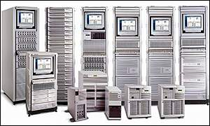 A selection of Hewlett-Packard servers