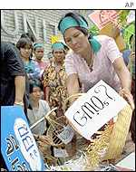 Woman GM protestor in Thailand