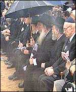 Jewish leaders attend the Jedwabne ceremony