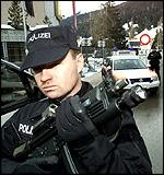 Swiss police at the Davos World Economic Forum in Davos