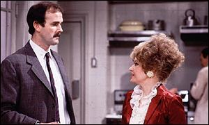 John Cleese and Prunella Scales in Fawlty Towers