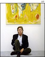 Sir Paul at his art exhibition at the Kunstforum Lyz Museum in Siegen