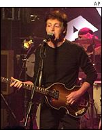 Sir Paul McCartney at the New Cavern Club in 1999