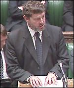 David Blunkett addressing Commons on Tuesday