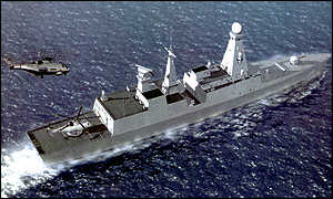 Artists impression of a type 45 destroyer