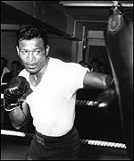 Sugar Ray Robinson in training before his fight with Randy Turpin