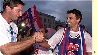 Goran and Croatian NBA star Toni Kukoc