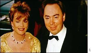 Lord Lloyd-Webber, with his wife Madeleine