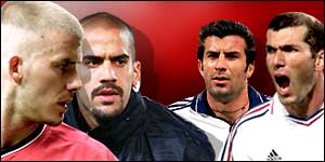 Beckham, Veron, Figo and Zidane