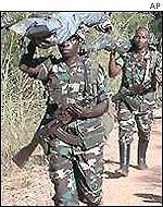 Rwandan troops in the DR Congo