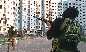 Russian troops in Grozny