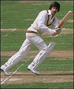 Northamptonshire captain Jim Watts batting in the 1980 final