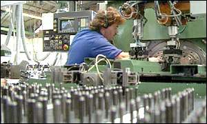 A worker in a UK factory