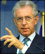 Mario Monti, EU competition commissioner