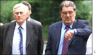 The SDLP's Seamus Mallon and John Hume