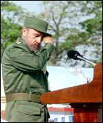 President Castro moments before fainting