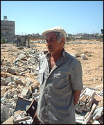 Mahmoud refuses to move away from his destroyed home