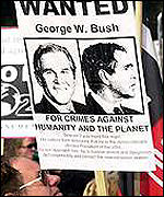 Protest against George Bush in Europe