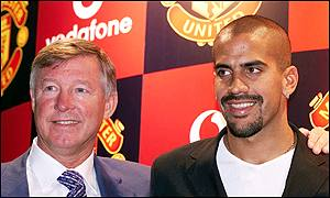 Sir Alex Ferguson and Juan Sebastian Veron