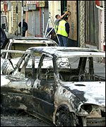 The aftermath of the disturbances in Burnley on 25 June 2001