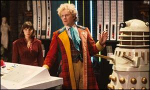 Colin Baker - the sixth incarnation of the Time Lord - with assistant Peri