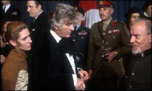 Jon Pertwee's Doctor (centre) was exiled on Earth for three years