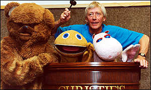 Geoffrey Hayes and the Rainbow characters