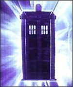 The Doctor travels time and space in a police box