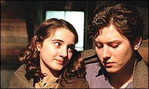 Hannah Taylor Gordon and Nicholas Audsley in ABC's Anne Frank