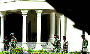 Soldiers at government house