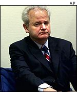 Slobodan Milosevic at the Hague tribunal