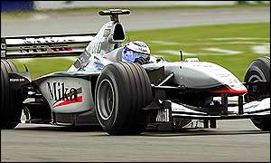 Mika Hakkinen finished just 0.082s behind Schumacher