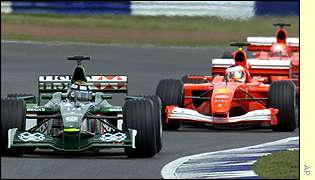 Eddie Irvine finished qualifying in 15th place