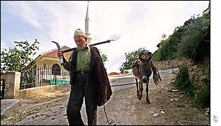 Ethnic Albanian man in Germo, near Tetovo